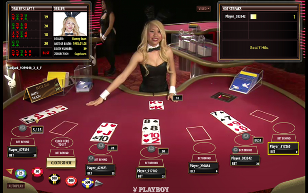 online blackjack live dealer