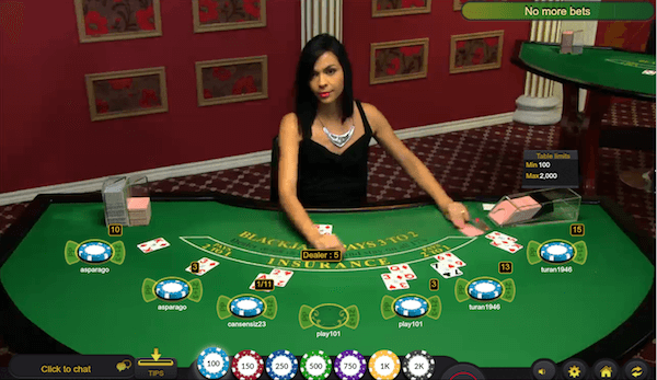 bitcoin live dealer blackjack from Ezugi