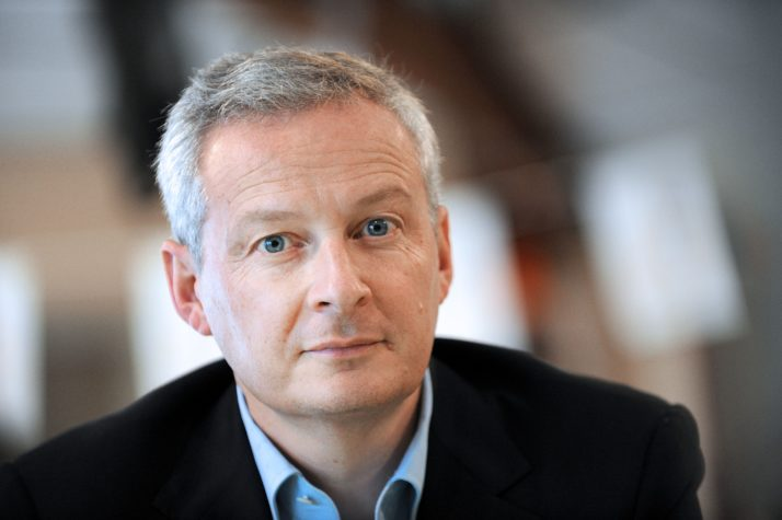 French politician and member of the right-wing opposition Les Republicains party, Bruno Le Maire is pictured following his visit to the Maison Familiale Rurale La Riffaudière, a training center that offers alternate training and education of young people and adults, in Doué-la-Fontaine, western France on November 5, 2015. AFP PHOTO / GUILLAUME SOUVANT        (Photo credit should read GUILLAUME SOUVANT/AFP/Getty Images)